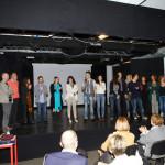 Il cast sul palco 1